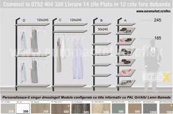 Dressing personalizat modern eFlex Iasi - Module persoalizate dressing Atelier EMS